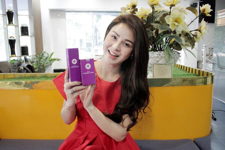 Làn da của diễn viên Thu Trang đã cải thiện rất tốt sau khi dùng Bộ sản phẩm Nám Tàn nhang Vương Phi