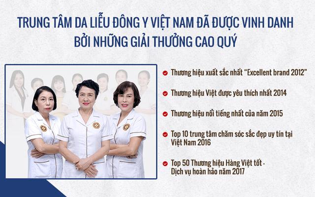 Trung tâm Da liễu Đông y Việt Nam đã đạt được nhiều giải thưởng danh giá