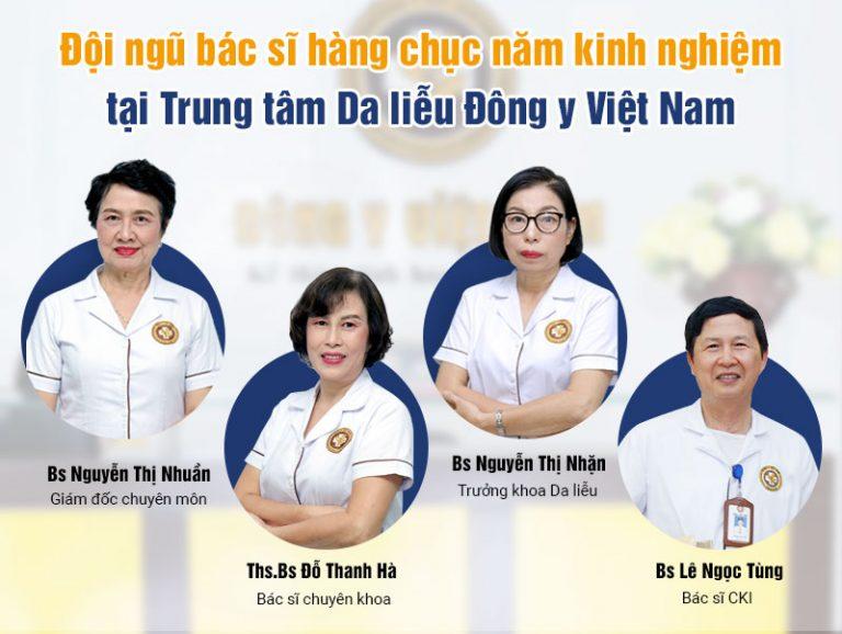 Đội ngũ chuyên gia hàng đầu tại Trung tâm Da liễu Đông y Việt Nam