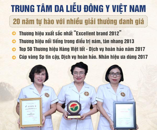 Trung tâm Da liễu Đông y Việt Nam là đơn vị hàng đầu trong điều trị các bệnh về da, được nhiều người bệnh tin tưởng lựa chọn