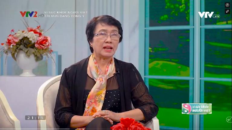 Bác sĩ Nguyễn Thị Nhuần chia sẻ kiến thức về mụn và phương pháp điều trị hiệu quả bằng thảo dược Đông y trên kênh VTV2