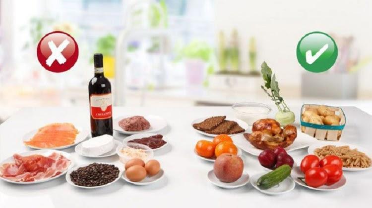 Người bệnh nên kiêng ăn hải sản, trứng, bia rượu để tốt cho sức khỏe
