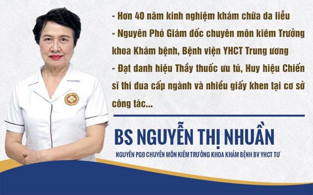 Bác sĩ Nguyễn Thị Nhuần là bác sĩ giỏi trong lĩnh vực khám chữa bệnh da liễu