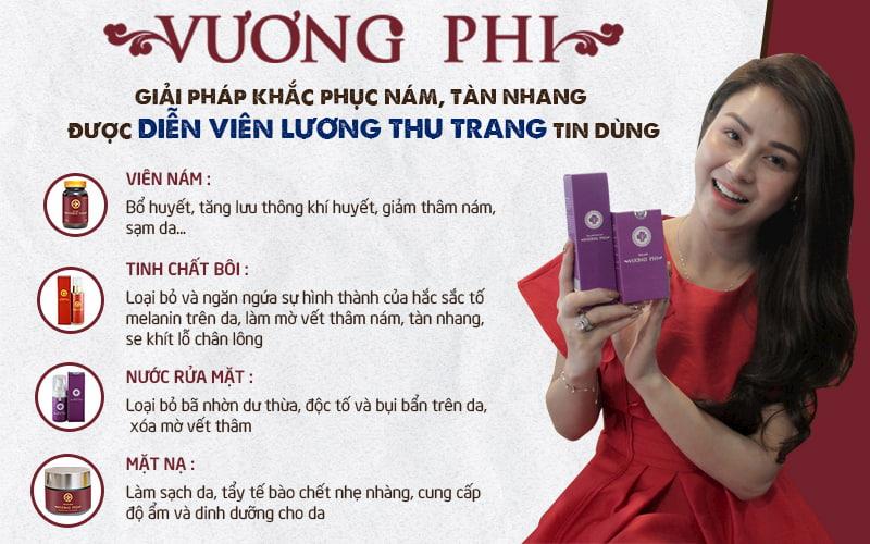 Bộ sản phẩm Vương Phi được diễn viên Lương Thu Trang tin dùng