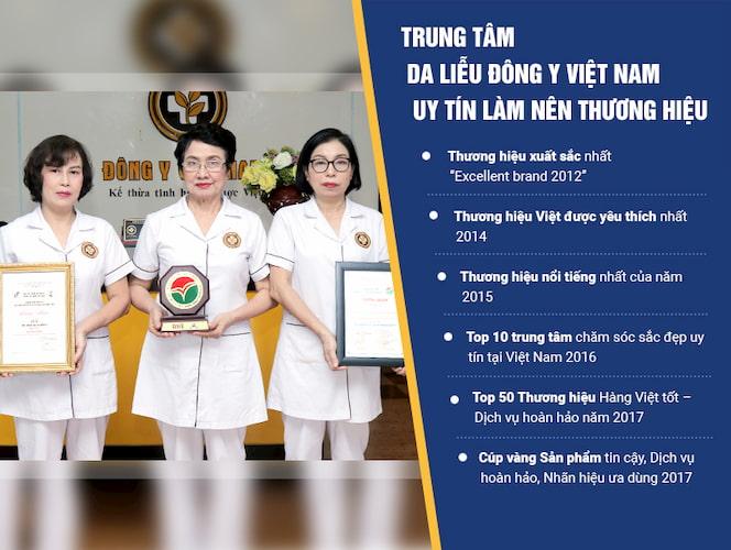 Trung tâm Da liễu Đông y Việt Nam tự hào là thương hiệu uy tín hàng đầu