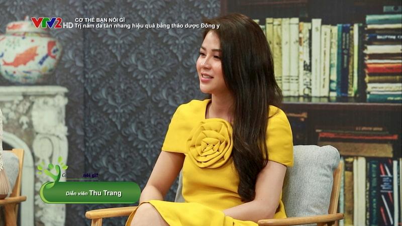 Diễn viên Thu Trang trong chương trình Cơ thể bạn nói gì?