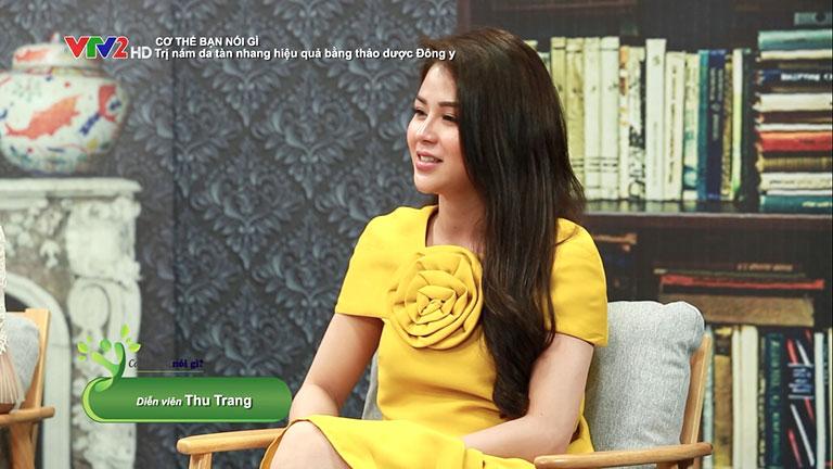 Diễn viên Lương Thu Trang chia sẻ về hành trình trị nám, tàn nhang của mình