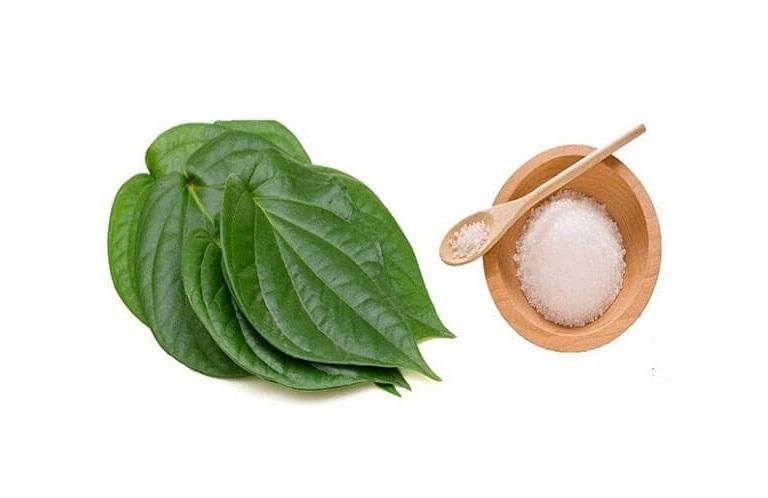Kết hợp lá trầu không với muối để tăng hiệu quả chữa bệnh viêm da cơ địa