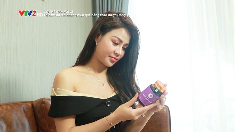 Diễn viên Lương Thu Trang chia sẻ hiệu quả sử dụng Vương Phi trên VTV2