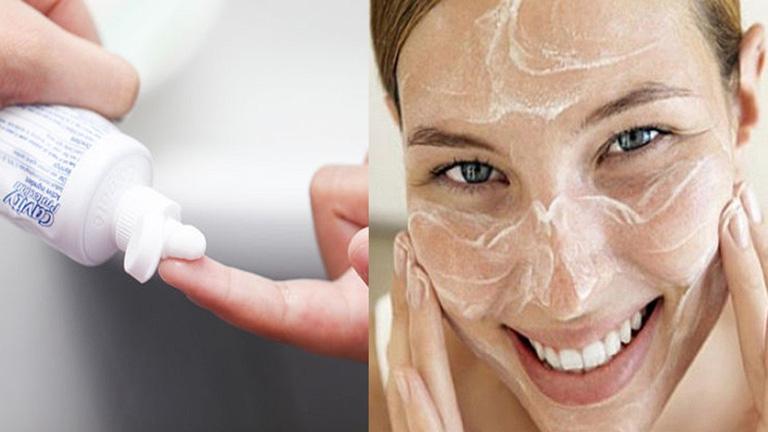 Rửa mặt bằng kem đánh răng có những công dụng nhất định