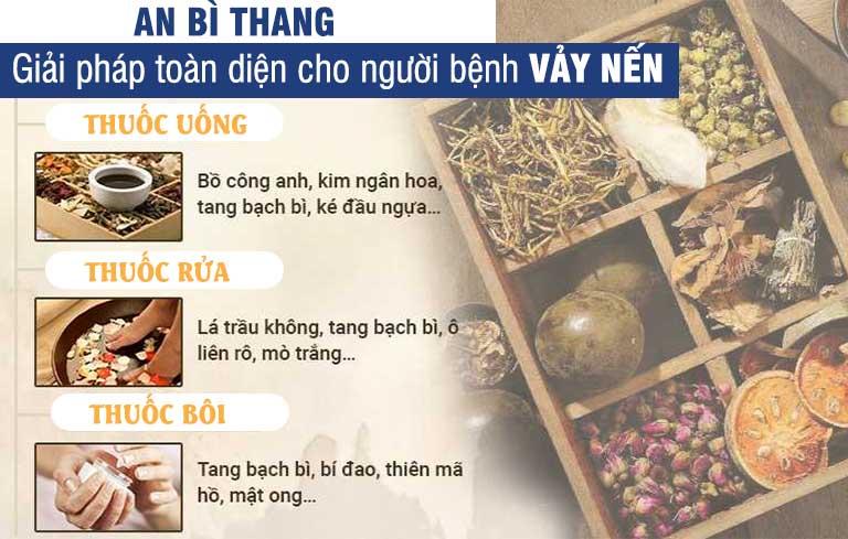 Thành phần, một số thảo dược đặc hiệu được dùng trong 3 dạng chế phẩm của bài thuốc An Bì Thang