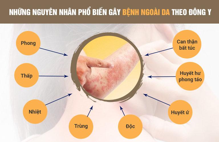 Những nguyên nhân phổ biến gây bệnh ngoài da theo Đông y
