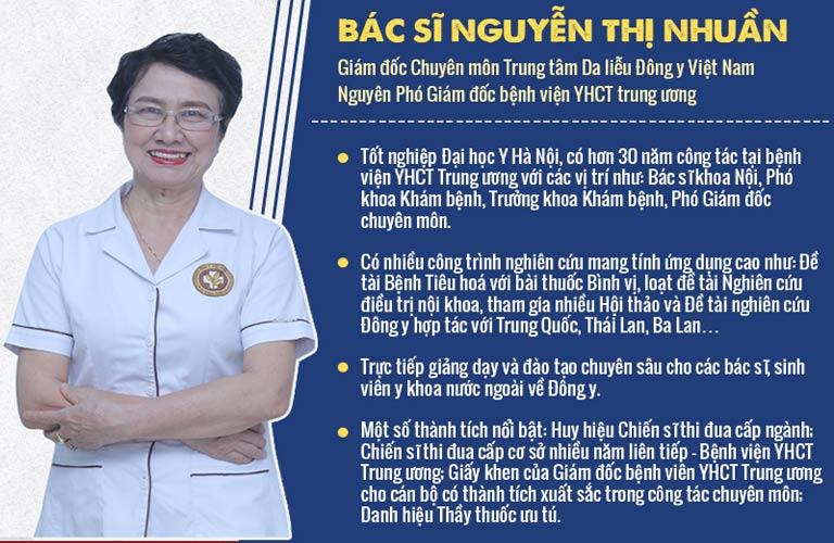 Bác sĩ Nguyễn Thị Nhuần là người trực tiếp nghiên cứu bài thuốc An Bì Thang chữa viêm da