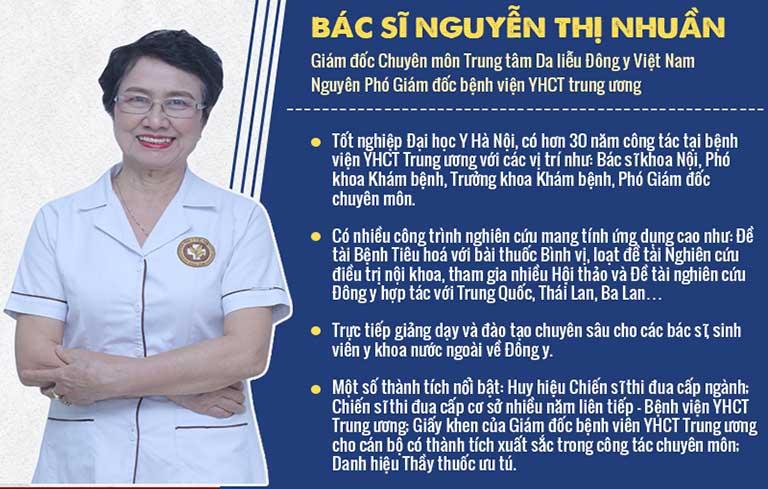 Bác sĩ Nguyễn Thị Nhuần là cái tên quen thuộc với nhiều bệnh nhân mắc các bệnh lý về da