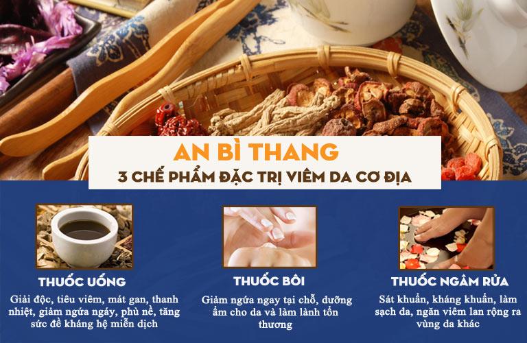 Bài thuốc An Bì Thang với 3 chế phẩm đặc trị viêm da cơ địa