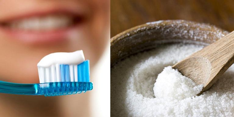 Kết hợp kem đánh răng và muối để tăng hiệu quả sát khuẩn