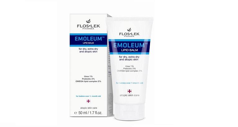 Sữa tắm Floslek Emollient Atopic giúp phục hồi và ngăn ngừa tình trạng nứt nẻ do bệnh gây nên
