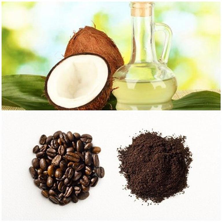 Hỗn hợp dầu dừa và cà phê rất tốt cho da ở lưng