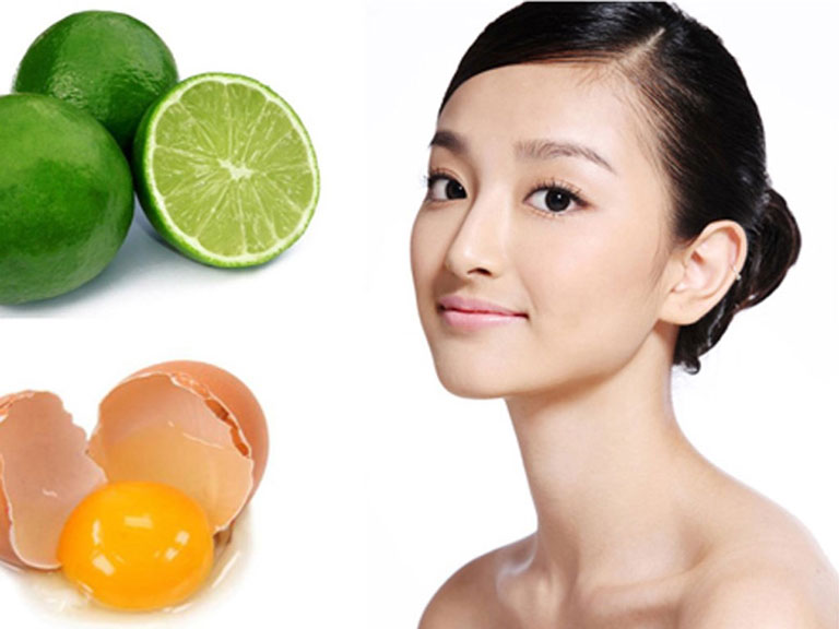 Trứng gà và chanh là công thức rất tốt cho da dầu