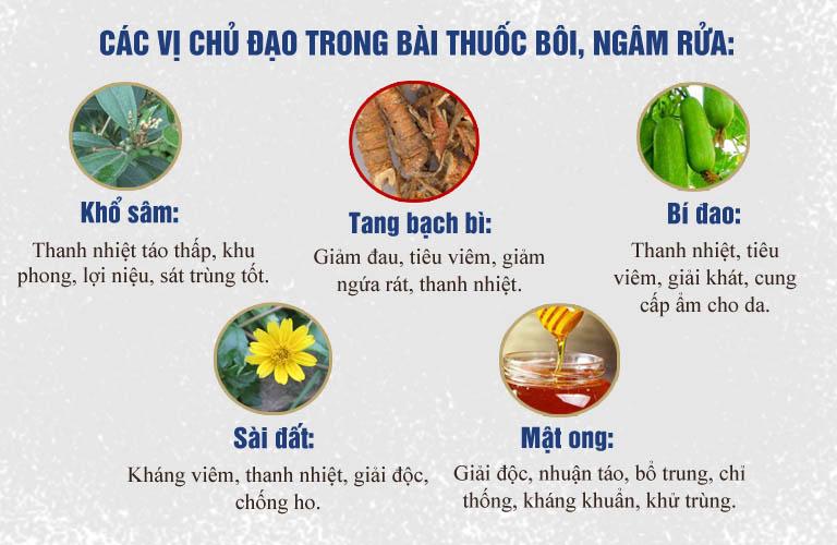 Các vị thuốc trong chế phẩm thuốc bôi của bài thuốc An Bì Thang