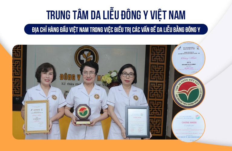 Trung tâm Da liễu Đông y Việt Nam với nhiều giải thưởng danh giá
