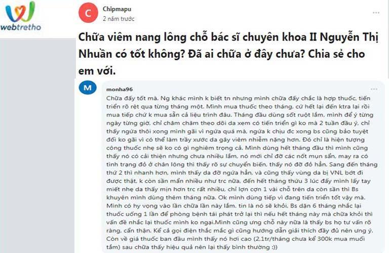 An Bì Thang nhận được phản hồi tốt từ người bệnh