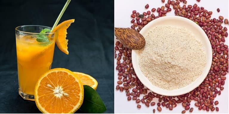 Nước cam kết hợp với bột đậu đỏ thế nào cho đúng?