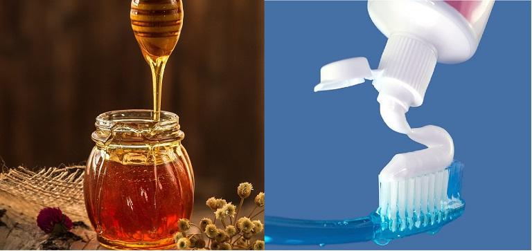 Đánh bay mụn với kem đánh răng và mật ong