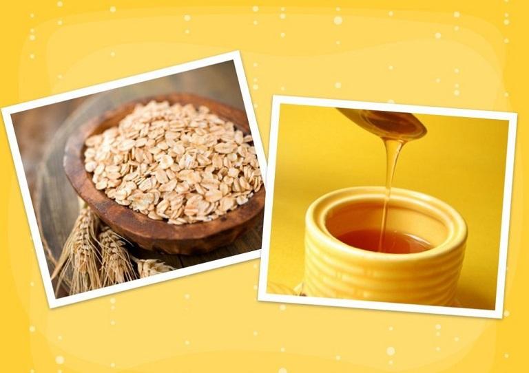 Kết hợp bột yến mạch và mật nguyên chất để chăm sóc da