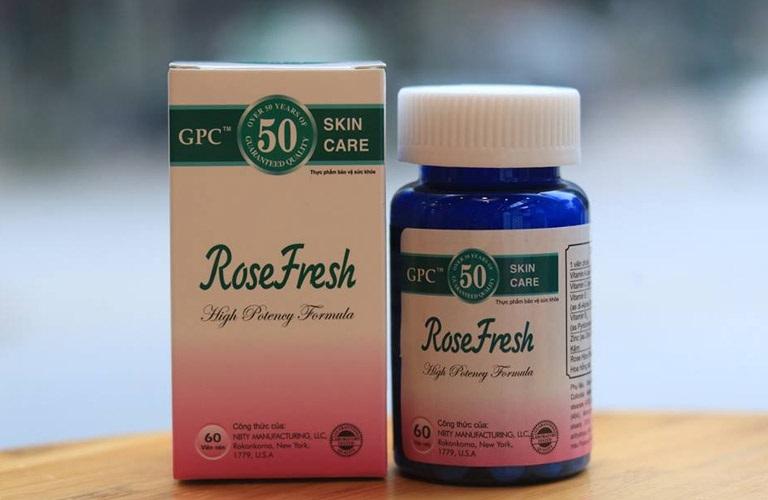Viên uống Rose Fresh hỗ trợ trị mụn trứng cá