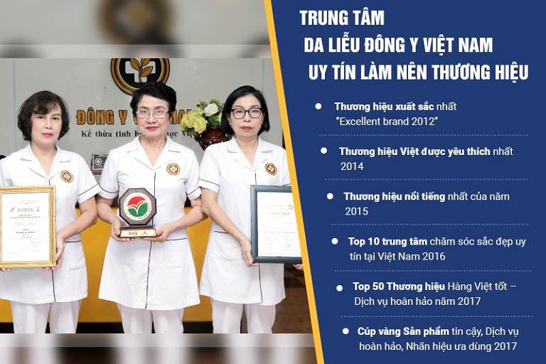 Một số thành tựu nổi bật của Trung tâm Da liễu Đông y Việt Nam