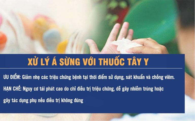 Thuốc Tây, đặc biệt là các loại thuốc bôi chỉ có tác dụng tạm thời và thường khiến da của người bệnh mất đi khả năng tự bảo vệ