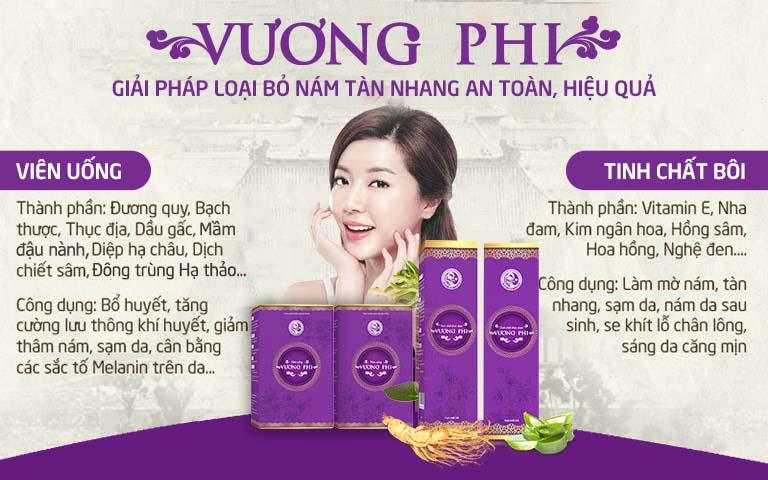 Vương Phi - giải pháp hỗ trợ điều trị nám, tàn nhang hiệu quả số 1 Việt Nam