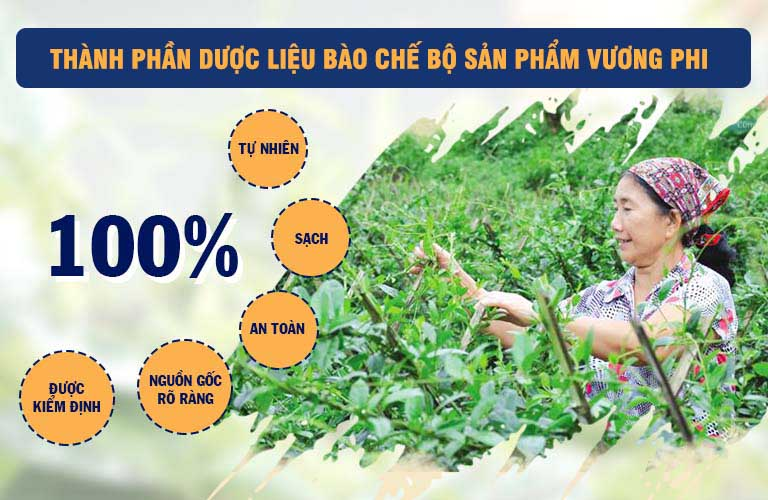 Vườn dược liệu đạt chuẩn, đem lại tính an toàn cho bộ sản phẩm với thành phần thảo dược lành tính