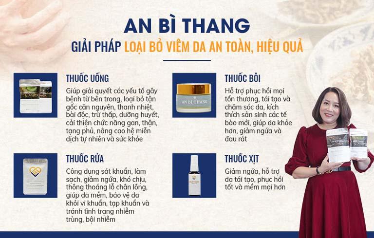 Bốn chế phẩm chính của An Bì Thang chữa viêm da cơ địa