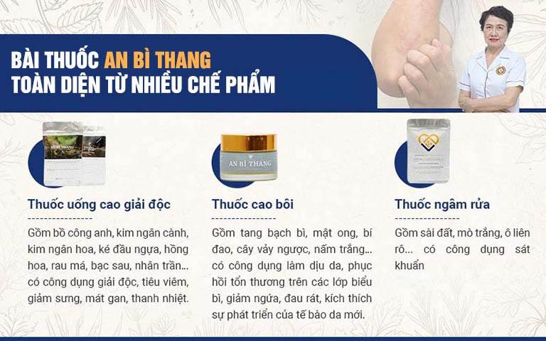 Các chế phẩm trong bài thuốc tổ đỉa An Bì Thang