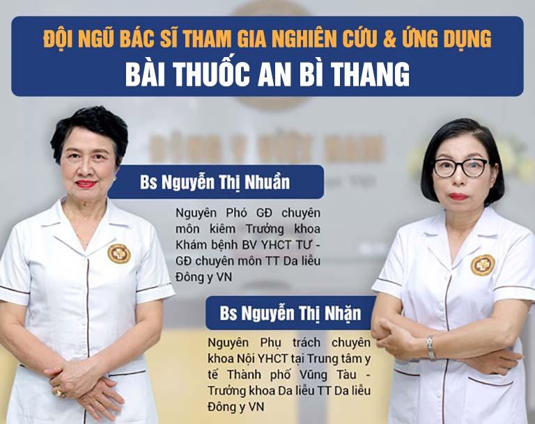 Đội ngũ chuyên gia giàu kinh nghiệm tham gia nghiên cứu và ứng dụng bài thuốc An Bì Thang
