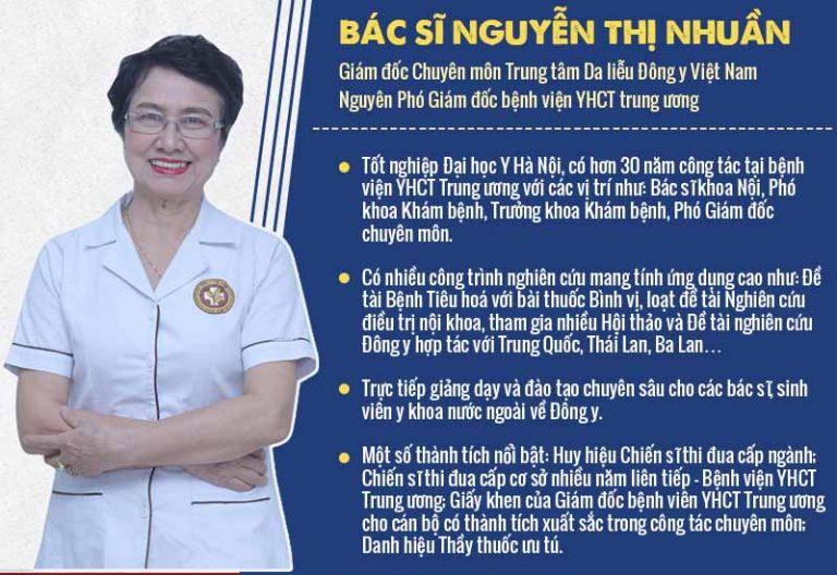 Bác sĩ Nguyễn Thị Nhuần - người có công nghiên cứu và phát triển bài thuốc An Bì Thang