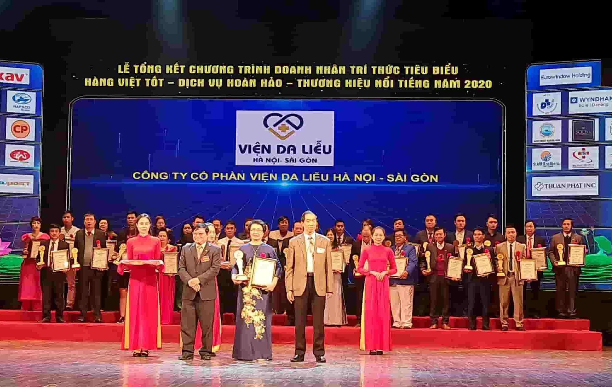 Giải thưởng là sự cộng nhận cho những nỗ lực cống hiến của Viện da liễu Hà Nội - Sài Gòn