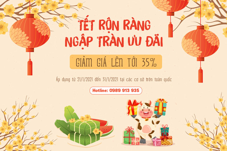 Chương trình khuyến mãi Tết Tân Sửu 2021 của Trung tâm Da liễu Đông y Việt Nam