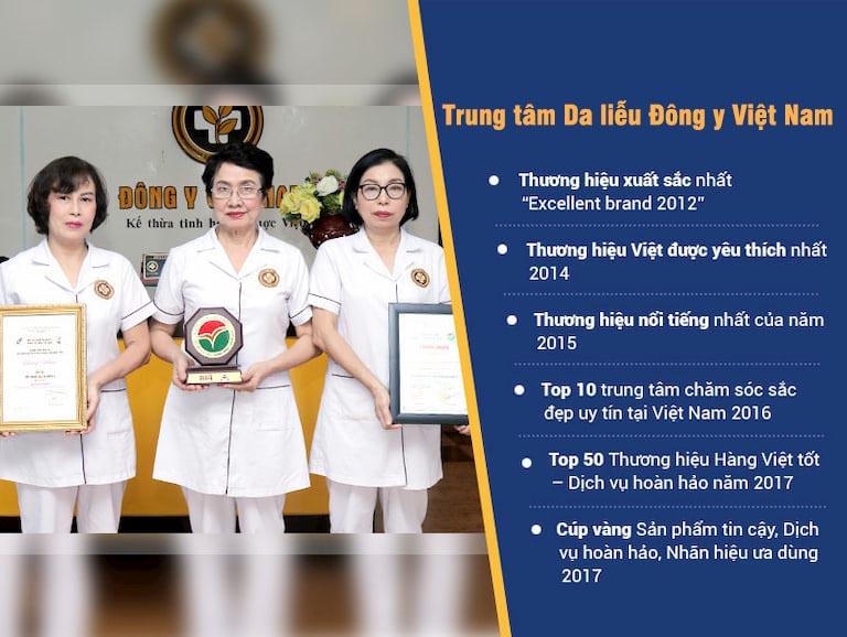Trung tâm Da liễu Đông y Việt Nam là đơn vị uy tín trong điều trị các vấn đề Da liễu mà người bệnh nên lựa chọn