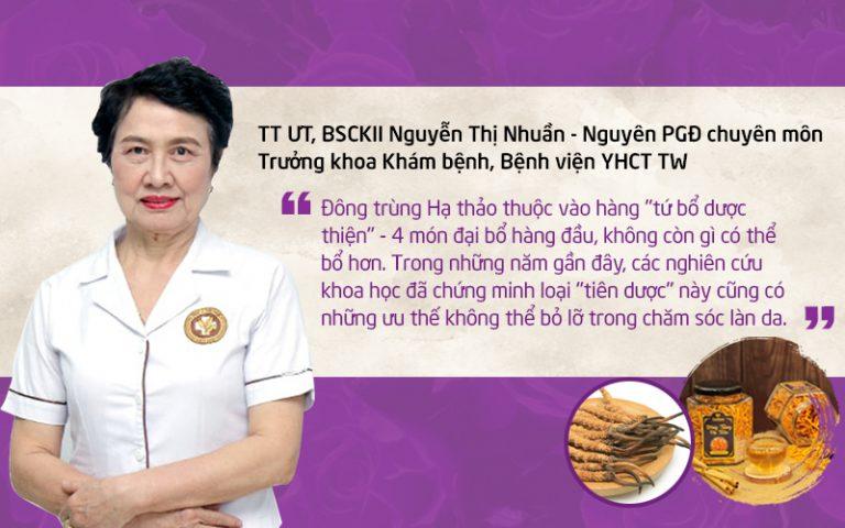 Chuyên gia Da liễu Nguyễn Thị Nhuần nói về thành phần mới trong Vương Phi thế hệ 2
