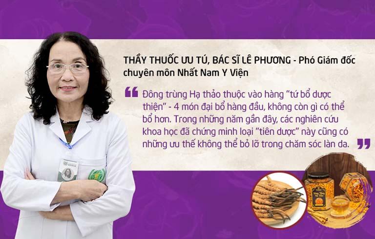"""Theo bác sĩ Phương, Đông trùng Hạ thảo là dược liệu đem lại hiệu quả cao và sự """"bứt phá"""" cần thiết cho Vương Phi thế hệ 2"""