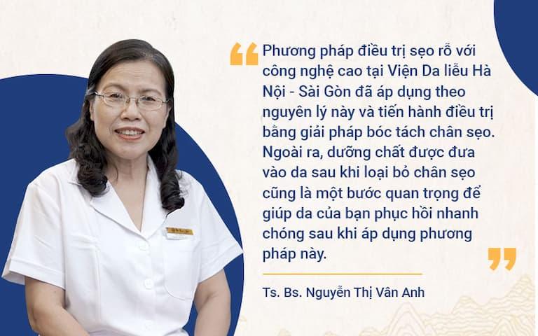 Chuyên gia da liễu đánh giá cao phương pháp trị sẹo tại Viện Da liễu HN-SG