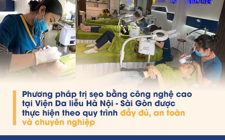 Quy trình tách đáy sẹo tại Viện Da liễu HN-SG được thực hiện chuyên nghiệp, đảm bảo an toàn