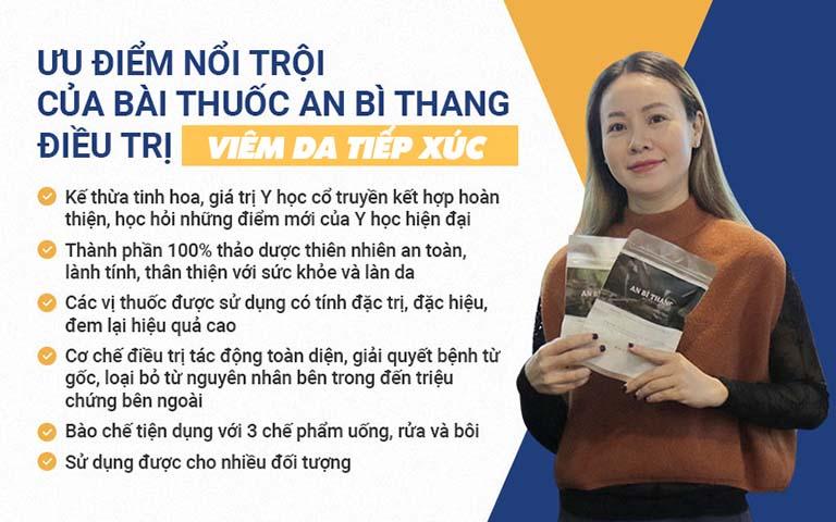 Bài thuốc An Bì Thang với nhiều ưu điểm nổi trội được sử dụng trong phác đồ điều trị viêm da tiếp xúc cho diễn viên Vân Anh