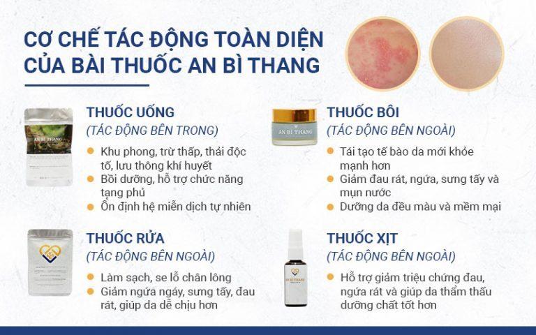 Cơ chế tác động toàn diện trị viêm da từ gốc đến ngọn