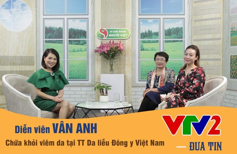 VTV đưa tin diễn viên Vân Anh chữa khỏi viêm da