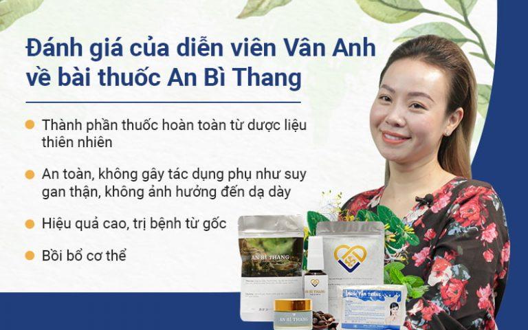 Đánh giá chân thực của diễn viên Vân Anh về bài thuốc An Bì Thang trên VTV2.