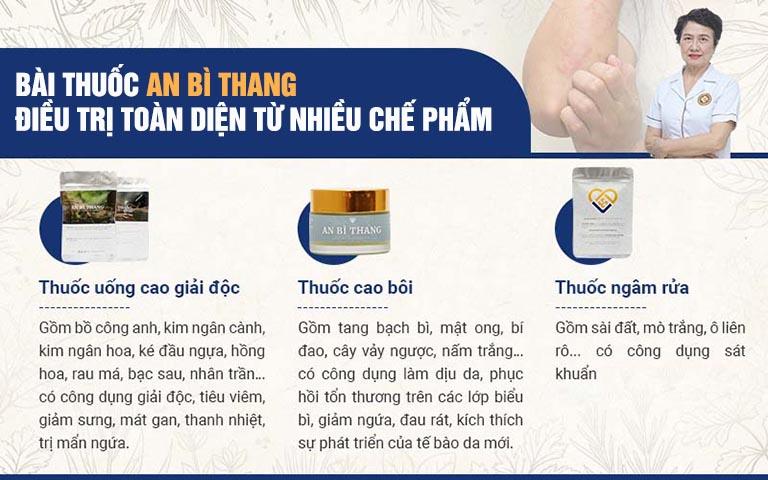 Ba chế phẩm điều trị viêm da tiết bã của bài thuốc An Bì Thang